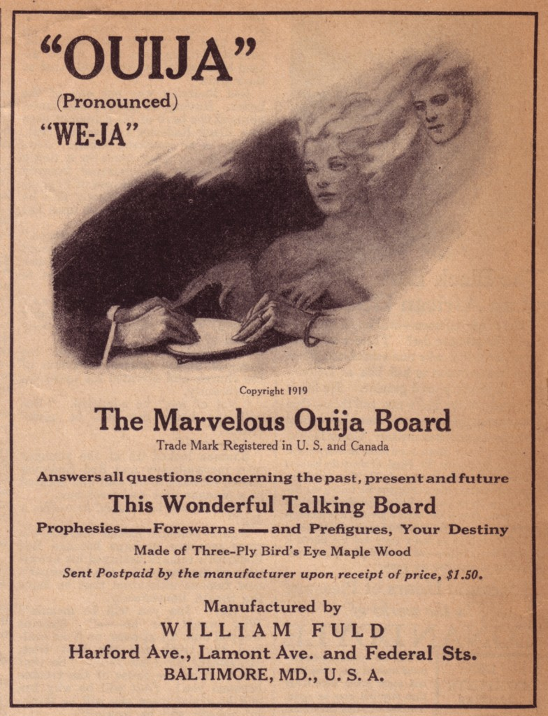 1920-02 Metropolitan William Fuld Ouija ad