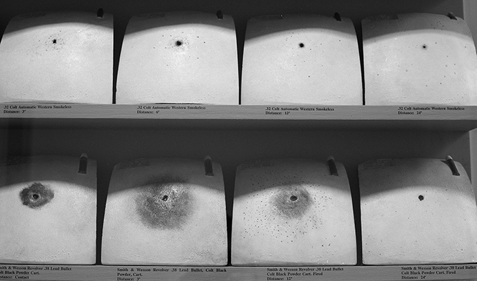 Frances Glessner Lee, Ceramic Chest Plates, detail 1, Photograph by Kristine Thompson