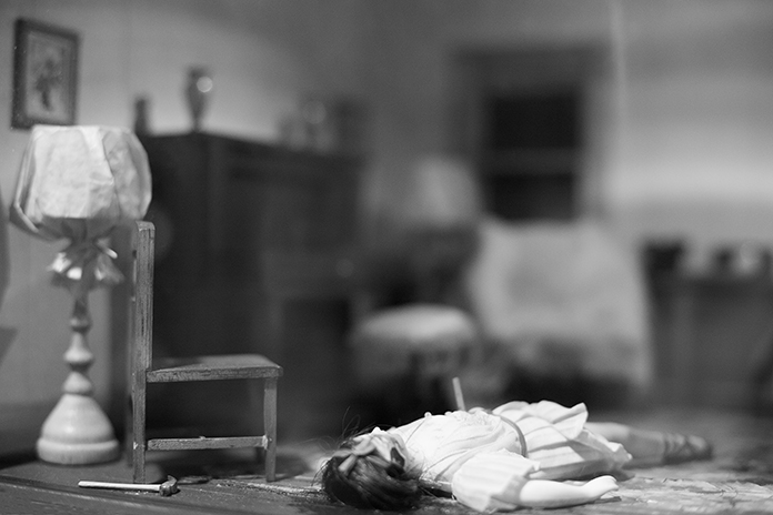 Frances Glessner Lee, Nutshell Studies of Unexplained Death, detail 5, Photograph by Kristine Thompson