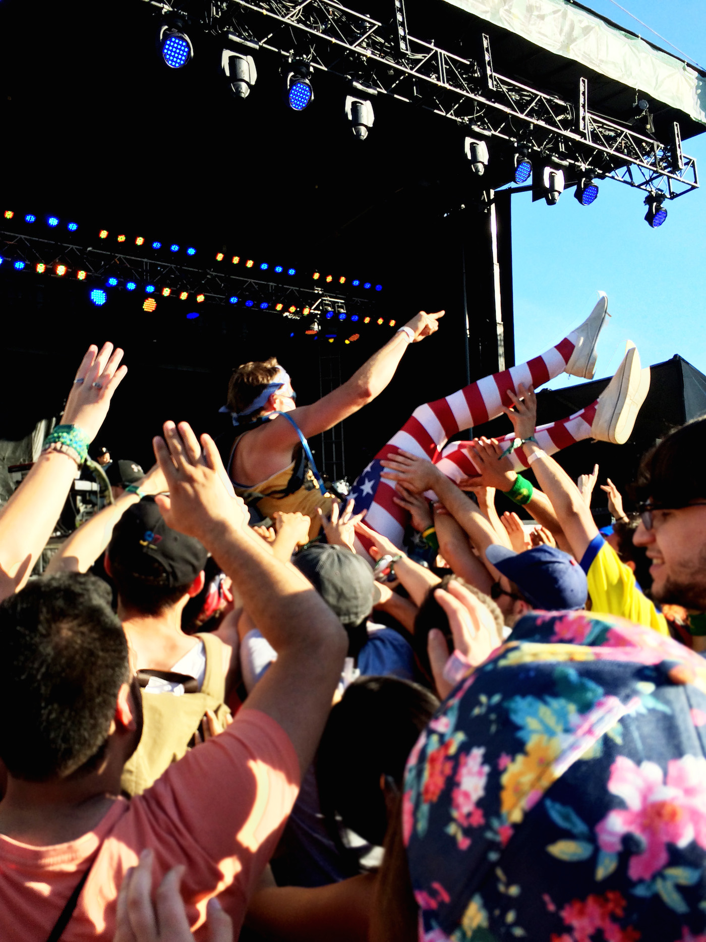 Get your crowd surf on.