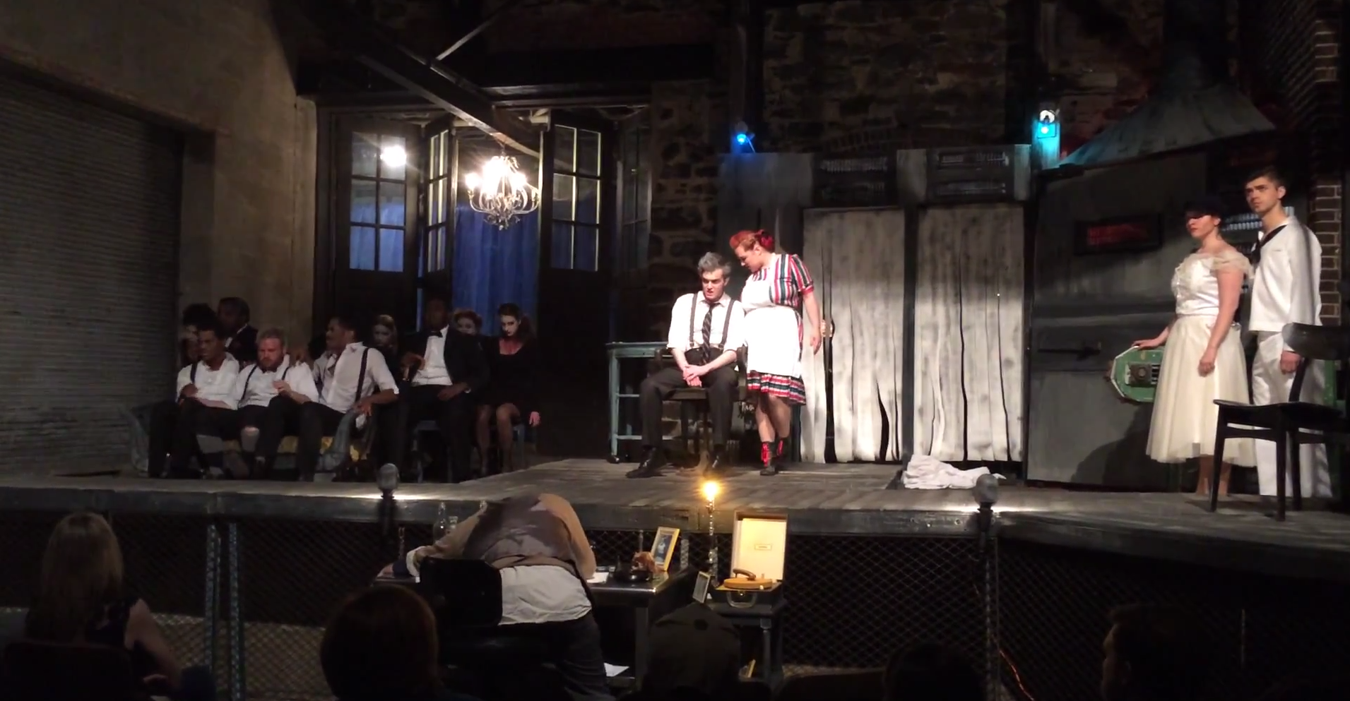 "Stillpointe Theater Initiative's production of ""Sweeny Todd"" was performed behind Area 405."